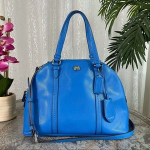 COACH Peyton Leather Cora Domed Satchel F25671